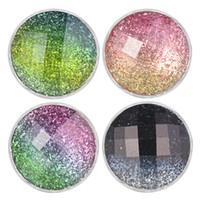 VOCHENG NOOSA Chunks 5 colori pendenti in resina zenzero con bottone a pressione Charms con base in metallo rame misura 18mm gioielli a scatto Vn-1966