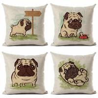Cães bonitos Impresso Lençóis de Algodão Para Casa Decorativa Lance Fronha Capa de Almofada para o Sofá Sofá 18x18 Cm
