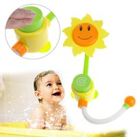 Venta al por mayor 1 PCS girasol baño del bebé Juguetes para niños aerosol de la ducha de agua de riego manual grifo Baño Juguetes color al azar