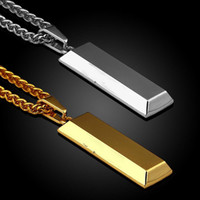 Long Chain Men Necklace Hip Hop Jewelry Silver Gold Plated S...