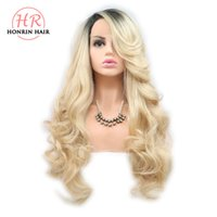 Honrin Hair Blonde Synthetic Lace Front Wigs Ombre Long Body...