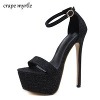 Großhandel 2018 Neue Sommer Sexy Frauen High Heels Sandalen Mode Stripper Schuhe Party Pumps Frauen Plattform bling Sandalen YMA324