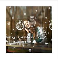 Gztzmy 2019 Новый год с Рождеством Христовым украшения для дома стекло витрина магазина рождественские украшения стикер Навидад Наталь