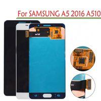 LCD original A510 para Samsung Galaxy A5 2016 A510F A510F / DS A510M A510M / DS A510FD A510Y Asamblea de digitalizador de pantalla táctil + Herramienta gratuita