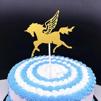 5 Pcs bag Unicorn Cake Toppers Party Cupcake Happy Birthday ...