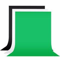 Schwarz, Grün, Weiß 2x3m Muslin Fotografie Hintergrund Bildschirm Fotografie-Hintergrund für Studio Foto Props Foto Background