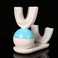 Spazzolino elettrico automatico Amabrush Ultrasonic Sonic Igiene orale Cura dentale 15 secondi Testina di ricarica wireless impermeabile Spazzolino da denti