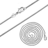 Hot Sale 925 Plated Silver Link Chains Necklaces Fit For Pen...