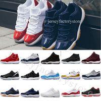 Pas Cher Nouveautés 11 Hommes Femmes Basketball Chaussures 11 s Bleu Saphir Velours Heiress Top Qualité Sport Chaussures Avec Chaussures Boîte US 5.5-13 EUR 36-47