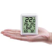 Погодная станция цифровой гигрометр термометр светодиодный дисплей высокая точность измеритель температуры влажность монитор тестер