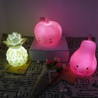 New Arrival Cute LED Soft Plastic Silicone Apple Pineapple P...
