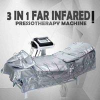 1 원적외선 Pressothothy EMS 전기 근육 자극 사우나 공기 압력 프레소 림프 배수 바디 슬리밍 기계