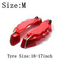 M 사이즈 16-17inch 타이어 3D 캘리퍼스 커버 브레이크 펜치 커버에 적합 ABS 캘리퍼스 전면 후면 디스크 커버 키트