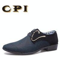 CPI 2018 ربيع جديد مصمم رجال الأعمال اللباس أحذية المرقعة hairstylis أحذية مريحة الرجال فستان الزفاف أحذية ZY-01