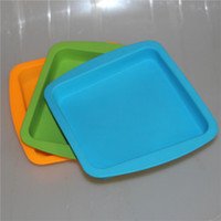 FDA heat resistant silicone tray Deep Dish square Pan friend...