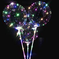 Lumineux LED ballons avec bâton éclairé ballon enfants jouet fête d'anniversaire décorations de mariage