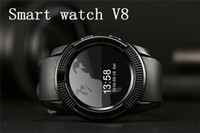 V8 Bluetooth Smart Watch 6 colori Sport Fitness Tracker SD Card SIM Card Smartwatch Pedometro del telefono Monitor del sonno