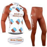 Velo térmica do inverno pro team AG2R ciclismo jerseys de manga comprida  mais quente bicicleta roupas 4596c96ce