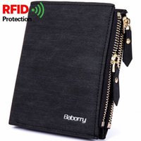 RFID Theft Protect Coin Bag zipper men wallets famous brand ...