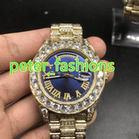 AAA blue face size 43mm luxury brand iced out watches hip ho...