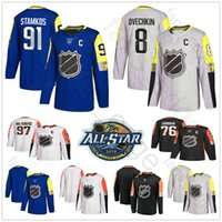 2018 All-Star Ice Hockey Jerseys Patrick Kane Nathan Mackinnon Klingberg Eric Staal Jason Zucker PK Subban Pekka Rinne Seguin Jersey