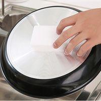 Pad 1000pcs / lot blanco Magic Melamine Sponge 100 * 60 * 20mm Limpieza de borrador multifuncional sin bolsa de embalaje Herramientas para el hogar