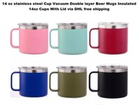 14 oz stainless steel Cup Vacuum Double layer Beer Mugs Insu...