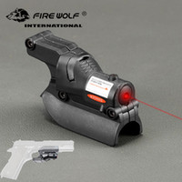 Caccia tattica 5mW Red Laser Sight Scope Red Dot Sight per il 1911 Pistol Airsoft con Groove laterali