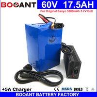 Бесплатная доставка 60V 18AH E-велосипед пакет Литий-ионный аккумулятор для Bafang 750W 1500W 2000W двигателя Электрический велосипед аккумулятор 60V + 5A зарядное устройство