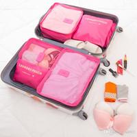 Bolsa de almacenamiento de viaje Organizador de equipaje práctico Ropa de alta capacidad Tidy Pouch Home Sack Container Small Case 10 5ba cc