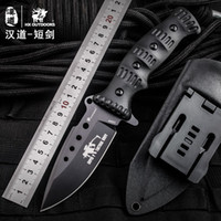 HX OUTDOORS Tactical high hardness straight knife field surv...