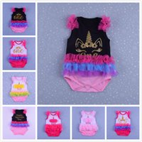 2018 Summer Hot Girls High- Quality Cotton Unicorn Baby Girl ...