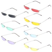 a8afedc68 2018 verão chique óculos de sol do vintage moda pequena lente mulheres  homens óculos de sol