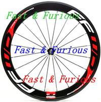 شحن مجاني! F6R الكربون عجلات 60 ملليمتر الفاصلة أنبوبي الطريق دراجة الكربون عجلة 700c 23 ملليمتر عرض الطريق الدراجة