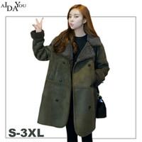 07432de6b5c5 Weibliche Jacken Winter Frauen warme Mode Wolle Liner lässig Maxi Jacke  Parkas Korea Stil Damen 2018 neue wattierte Mäntel ouc1504