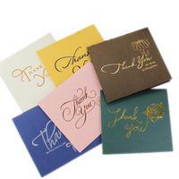 شكرا لك بطاقات بطاقات المعايدة بطاقة الأعمال أعلى درجة اللون البرنز ، شكرا لك على شركاء عملك والعملاء والضيف ، مع مغلف