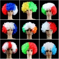 2018 Russia World Cup 2018 Football Fans Wig National Flag C...