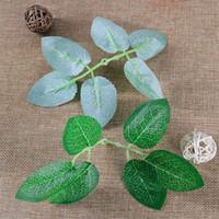 Simulación Rose Six Leaves Green Scene Ceremonia de la boda Decoración del hogar Fake Artificial Leaf Party Suministros festivos Pure Color 0 2dj bb