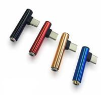 2 en 1 Tipo C Macho a 3.5 Puerto para auriculares Adaptador hembra Tipo-C Adaptador de carga de audio 3.5mm Jack Splitter para auriculares