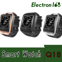 Q18 Bluetooth Smart Watch Soutien SIM Carte Smartwatches de santé de connexion de carte NFC pour Android Smartphone avec le paquet de Rectangle