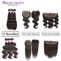 Hot Brazilian Virgin Hair Wefts Body Wave Straight 3 Hair Bu...