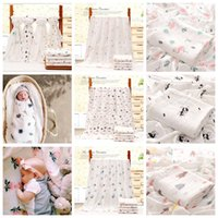 110*140cm Bamboo Cotton Baby Printed Blanket Muslin Swaddle ...