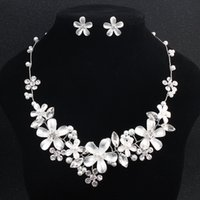 Wedding Flower Garden Bridal Jewelry Sets Necklaces and Earr...