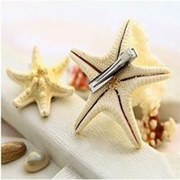 Hot Sale 2 x Real Starfish Hair Clips Sea Shell Mermaid Boho...