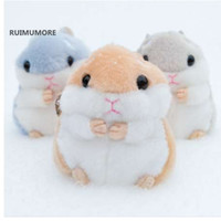 Juguete de felpa Fluffy New Hamster Mouse de alta calidad - 10cm de peluche de peluche de juguete de peluche de animales, llavero de peluche