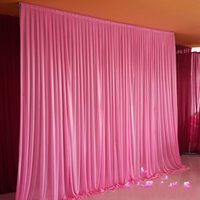 3 * 6m Wedding Party Stage Celebration Background Satin Curtain Drape Pilastro Soffitto Fondale Decorazione velo