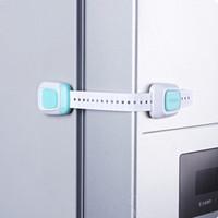 Safety Lock doppio tasto multifunzione per bambini in plastica Strap cassetto serratura della porta Cura scherza la sicurezza di trasporto