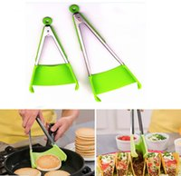 New 2- in- 1 Clever Spatula Tong Kitchen Spatula Tongs Non- sti...