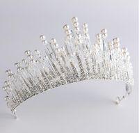 Корона головной убор, простой белый жемчуг украшения невесты, свадебное платье, свадебное платье, аксессуары, резинка для волос.