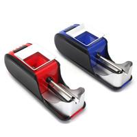 Automatico elettrico Sigaretta Iniettore Rollatore Macchina per tabacco Rullo elettronico Grinder Crusher Dry Herb Vaporizzatore blu rosso mk655